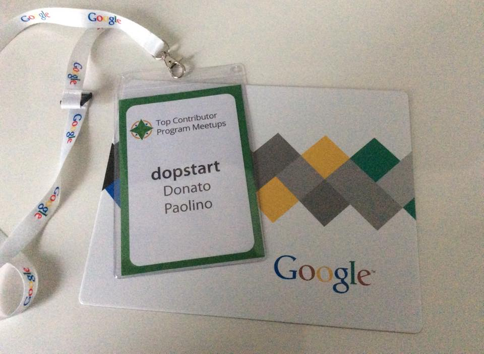 Google Top Contributor Summit a Milano