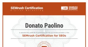 Certificazione SEMrush seo