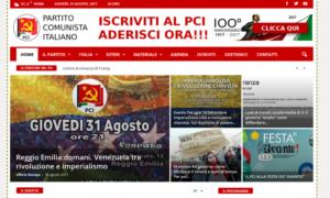 Partito Comunista Italiano, pubblicato il nuovo sito web