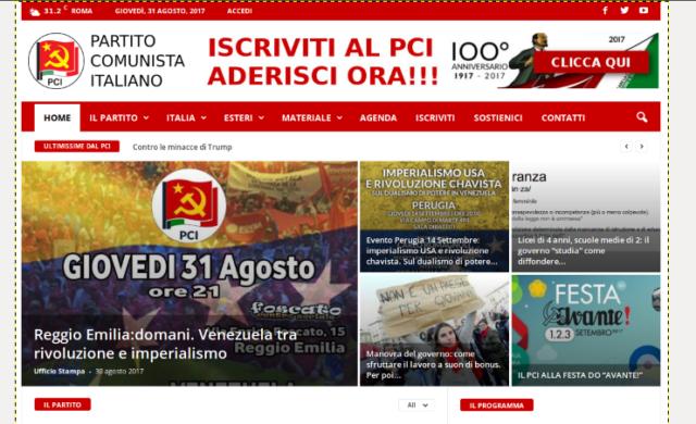 Partito Comunista Italiano sito web